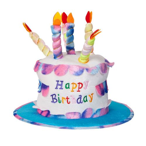 Deluxe Happy Birthday Cake Candles Hat for